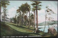Lake View Lodge Big Moose Lake Adirondacks NY Divided Back Leighton #4092