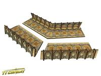TTCombat - Si-Fi Gothic - SFG40 - Fortified Trench Large Corner Sections