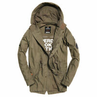 Superdry Mens Jacket Rookie Aviator Patch Aged