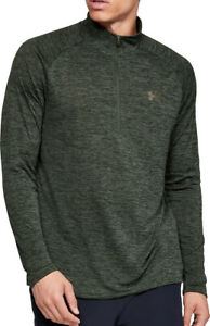Under Armour Tech 2.0 Half Zip Long Sleeve Mens Training Top - Green