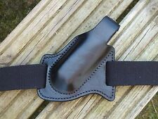 Leather Pancake Style Forward Carry Leatherman Surge Sheath Black. Right Hip.