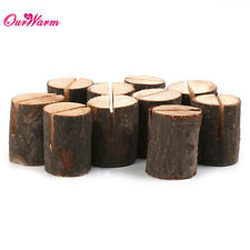 10PCS Wooden Table Number Place Name Memo Card Stands Holder Wedding Party Decor