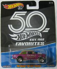 Hot Wheels 50 Favorites '55 CHEVY BEL AIR GASSER 8/10 purple Real Riders
