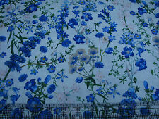 2.4 Yards Cotton Fabric - Quilting Treasures NY Botanical Harper Wild Flowers G