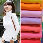 CH Fashion Women Pullover Turtleneck Sweater Long Sleeve Shirt Bottoming Shirt
