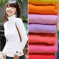 CHIC Fashion Women Pullover Turtleneck Sweater Long Sleeve Shirt Bottoming Shirt