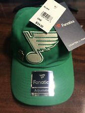 St. Louis Blues 2020 Fanatics St Patricks Day ADJUSTABLE HAT new with pin back