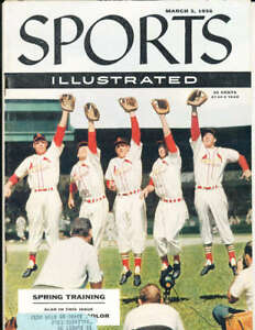 3/5 1956 Stan Musial Cardinals Sports Illustrated em simisc