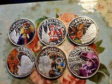 2012 FIJI ISLAND CARNIVAL AROUND THE WORLD RARE 6 COIN SET