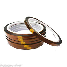 5 pcs 3mm 3D Sublimation Heat Resistance Proof Kapton Tape for Heat Press Print