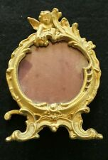 Antique gilded metal cherub picture frame