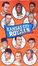 "1969 KANSAS CITY ROYALS TEAM PLAYER 8 1/2"" X 11"" COLOR PRINT POSTER"