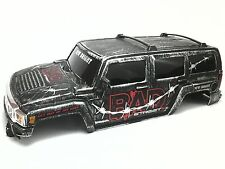 New Bright 1/12  Scale Hummer H3 Crawler Body Bad Street Black Brushed Silver