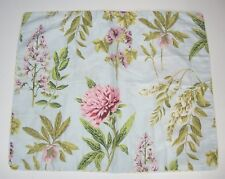 Two Vtg Dan River Standard Shams Floral Wisteria Peonies Helleborus Mallow