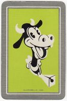 Playing Cards 1 Single Card Old Vintage DISNEY Named CLARABELLE COW Mickey Mouse