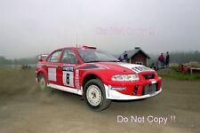 Freddy Loix Mitsubishi Lancer Evo 6.5 1000 Lakes Rally 2001 Photograph 4