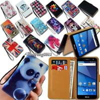 Leather Wallet Stand Magnetic Flip Case Cover For Various BLU Life One Phones