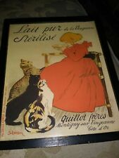 Framed French Lait pur Sterilise by Steinlen Vintage Print Reproduction 11 × 9