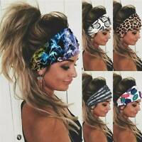 Elastic Stretch Wide Headband Hairband Running Yoga Turban For Womens Head Wrap