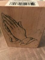PRAYING HANDS Stamp Craft Religion Rubber Stamp Stampinsisters #56