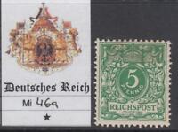 GERMANY - 1889 - Mi 46a cv 240$ MH*  SUPER centered