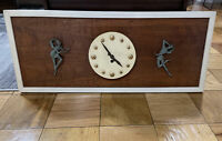 "Vintage Mid Century Modern MCM Wall Clock Wood Art Wall Hanging 16"" X 38"""