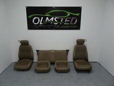 82 02 Pontiac Firebird Trans AM Set Seats Tan Leather OEM Power 87K Non Lumbar