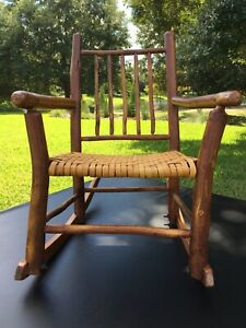 Old Hickory Child's Rustic Adirondack Rocking Chair