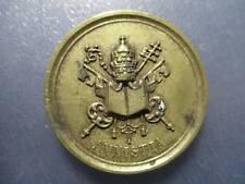 MEDALLA PAPAL VATICANO PONTIFICIO PAPA PIO IX AMNISTIA 1849 - 44 mm ESCASA
