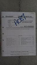 Sharp xg-e650u service manual original repair book lcd projector secam pal ntsc