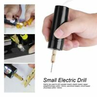 Portable Mini Small Electric Drills Handheld Micro USB Drill w/3pc Bits 18W 5V