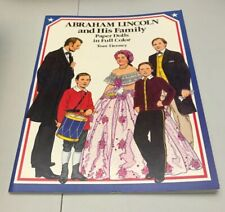 Abraham Lincoln Family Paper Doll Book Tom Tierney UNUSED Dover USA