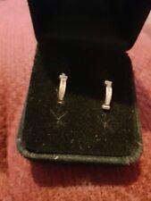 10ct Gold Cubic Zirconia Hoop Earrings