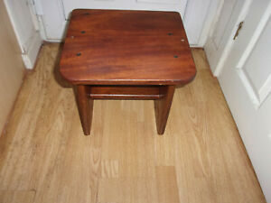 Vintage solid wood side table