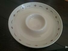 Longaberger Pottery Traditional Red Chip & Dip Serving Bowl Woven Traditions