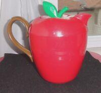 Vintage 1993 Kamenstein Large Red Apple Hard Plastic Thermal Carafe~32 OZ.