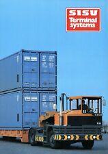 Sisu Tractors Terminal Systems Prospekt 1983 LKW GB brochure TR200 TR150 TT125