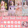 New Ball Jointed BJD Doll Girl Wink Eyes Dress Princess Toy Set Birthday Gift