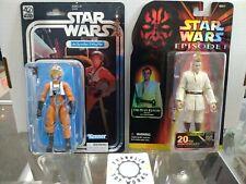 Hasbro Star Wars Black Series 20th Obi-Wan & 40th Luke Skywalker X-Wing Lot!!!