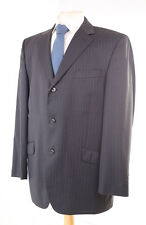 DANIEL HECHTER PARIS GREY PINSTRIPE MEN'S SUIT 42R DRY-CLEANED