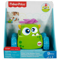 Fisher Price Press 'N Go Monster Truck Green NEW Toys Educational