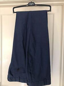 Charles Tyrwhitt mens blue Classic fit trousers 42waist 30 leg