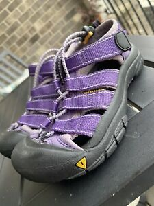 Kids Brown Keen Sport Sandals-Size 1 Youth Big Kid Purple