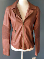 BB Dakota Faux Leather Moto Zip up Jacket Size S