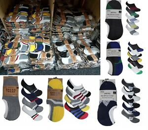 Mens Invisible Socks Liner Trainer No Show Assorted SIZE 6-11 WHOLESALE JOB LOT