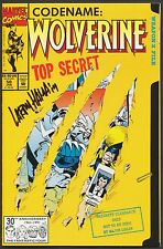 WOLVERINE #50 DIE-CUT 1st Print SIGNED Larry Hama COA