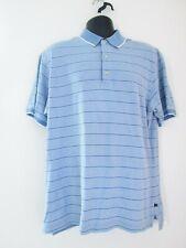 Callaway Golf Sports Men's Light Blue Striped Polo Shirt Size Big & Tall M