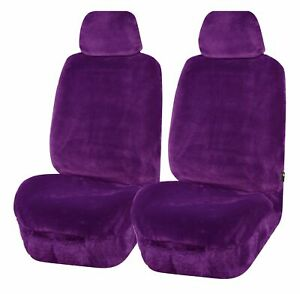 Universal Finesse Faux Fur Front Seat Covers Size 30/35   Purple