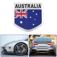 "ALUMINUM Australia Flag Emblem Sticker 3D Decal For Car, Bike, Truck 2""x2"""
