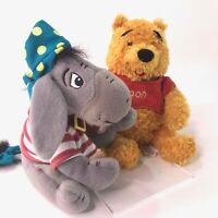 Walt Disney World Winnie the Pooh and Pirate Eeyore Rare Soft Plush Toy Bundle